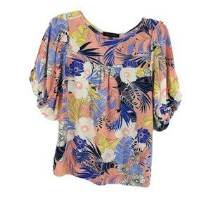 Sanctuary Floral Tropical Printed Blouse Small